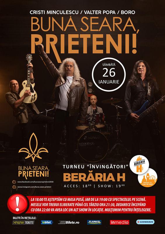 26 ianuarie, Cristi Minculescu, Valter Popa și Boro - Beraria H