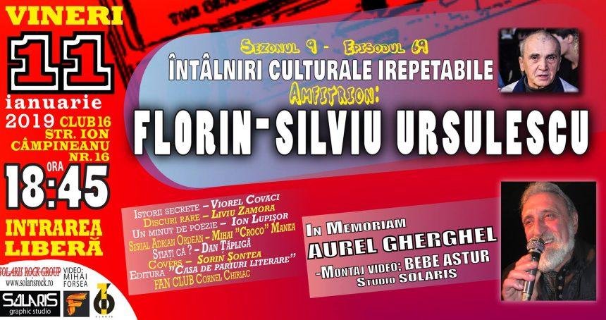 Întâlnirile culturale Florin-Silviu Ursulescu - O ediție specială în omagiul lui Aurel Gherghel