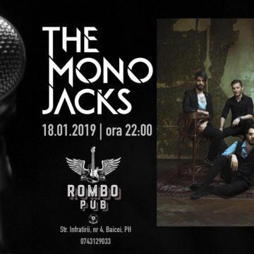18 ianuarie, concert THE MONO JACKS la Rombo Pub