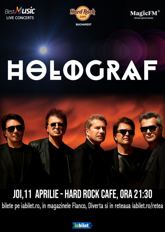 11 aprilie, Holograf la Hard Rock Cafe