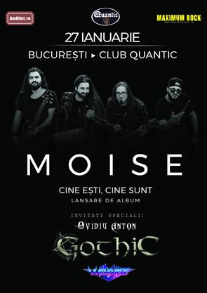 Moise, lansare de album, 27 ianuarie, club Quantic
