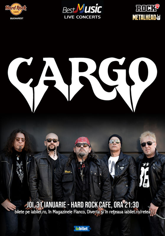 Cargo, 31 ianuarie in Hard Rock Cafe