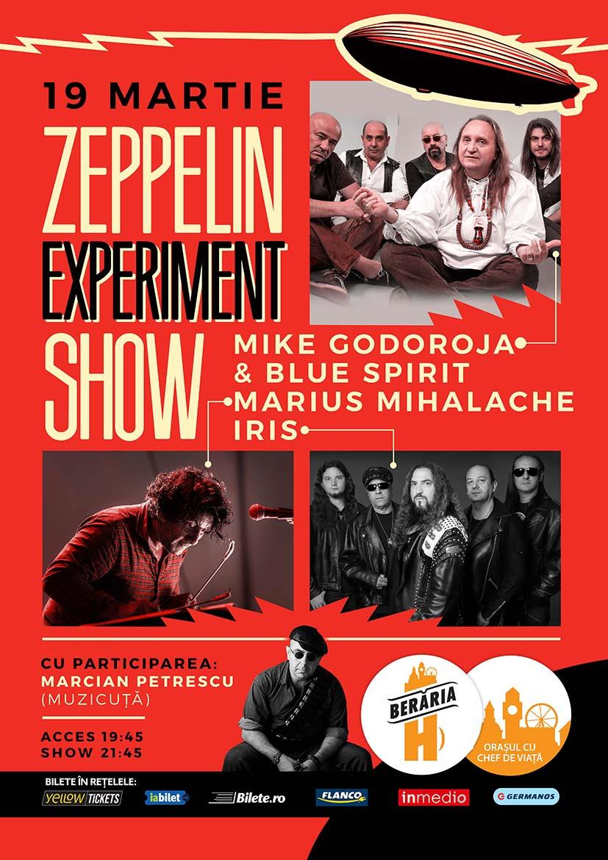 Mike Godoroja & The Blue Spirits, Marius Mihalache si IRIS - Zeppelin Experiment Show